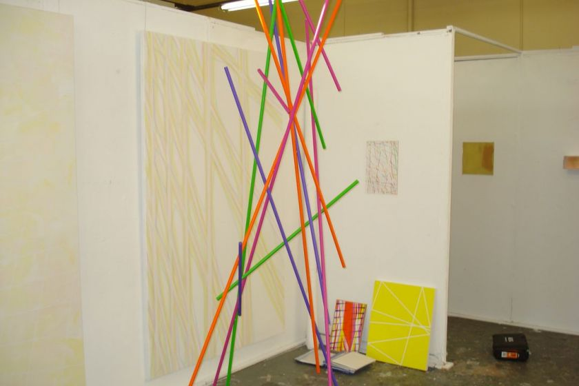 My exhibition space in our Graduate Exhibition, National Art School 2011